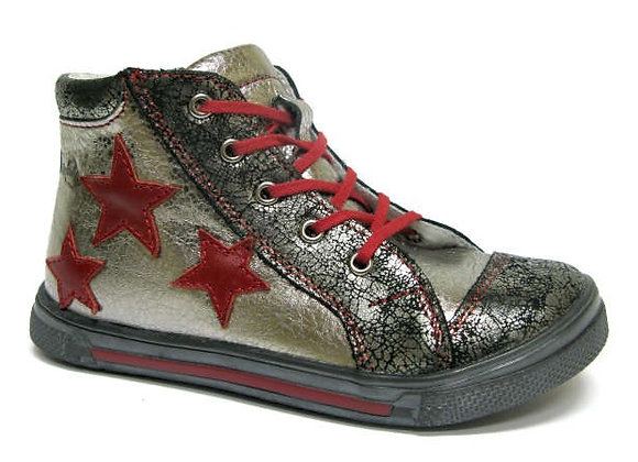 RBG33_4279_0797_HT Silver Shimmer Leather High Tops
