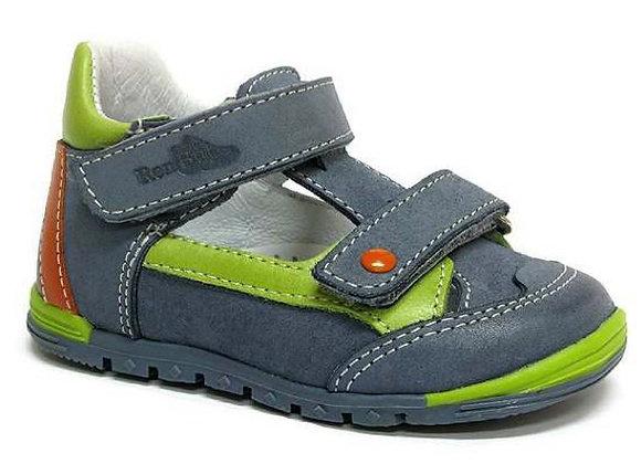 RBB13_1436_0334_CS Dark Blue Leather Sandals