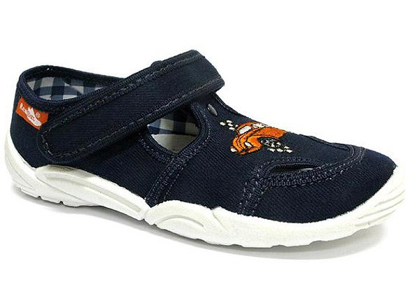 RBB33_375_0113 Navy Canvas Shoes