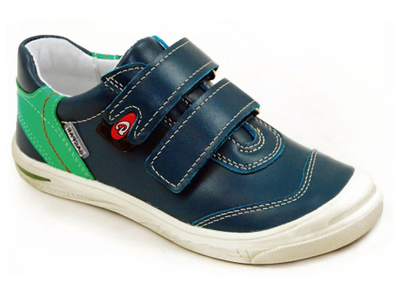 GB203_47_S Navy Leather Sneakers