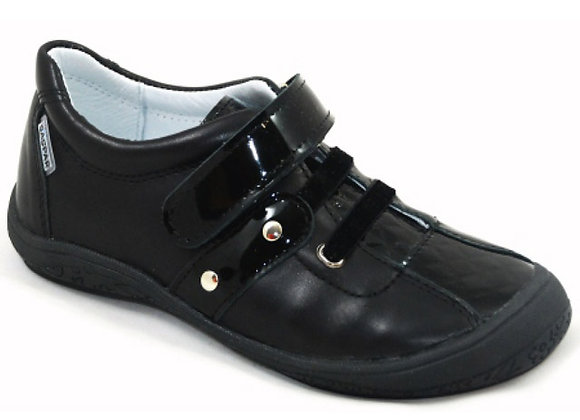 GG250_33_S Black Leather Sneakers