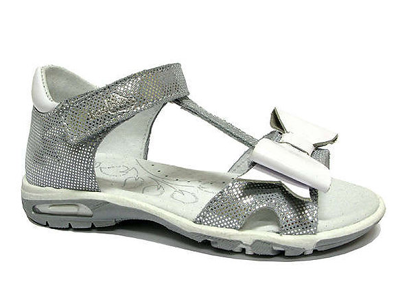 RBG21_3199_0627_OS Silver Shimmer Leather Sandals