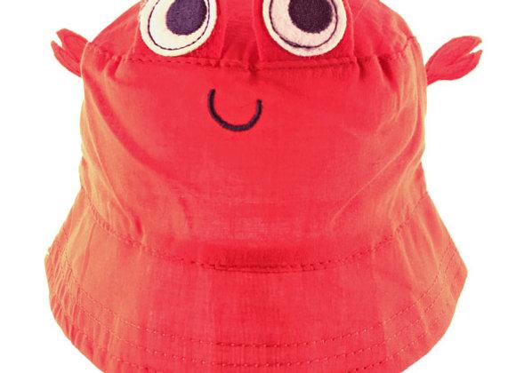 YB_113R_SH Red Crab Summer Bucket Hat