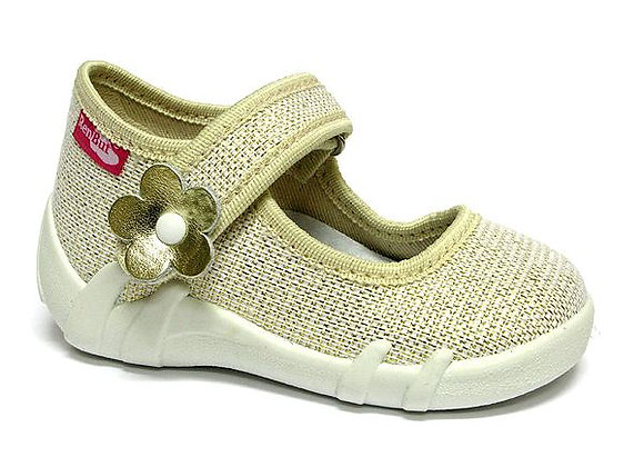 RBG13_139_P0821 Sparkly Gold Canvas Shoes