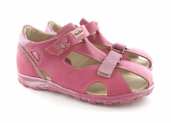 BG121P_4_CS Pink Leather Sandals