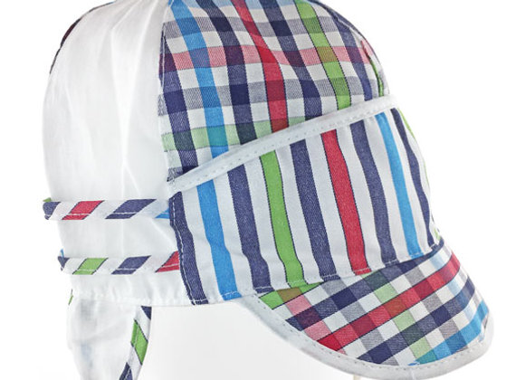 MB_MICR_SH Multi-Color Checkered Summer Hat