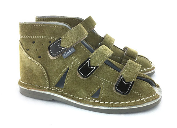 DBS_S414 Olive Suede Sandals