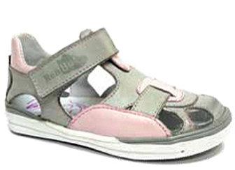 RBG23_3229G_CS Light Gray/Pink Leather Sandals