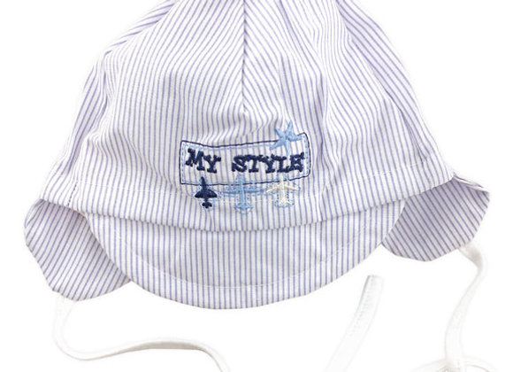 MB_MIK_SH White Striped Summer Hat