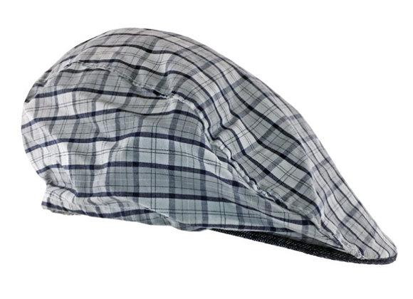 MB_CZESG_SH Gray Checkered Summer Cap