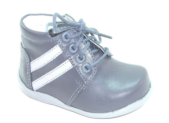 KB3863_GRAY_HT Dark Gray Leather Shoes