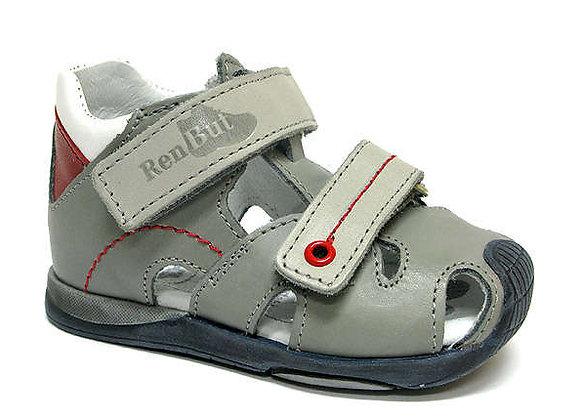 RBG11_1433_0150_CS Gray Leather Sandals