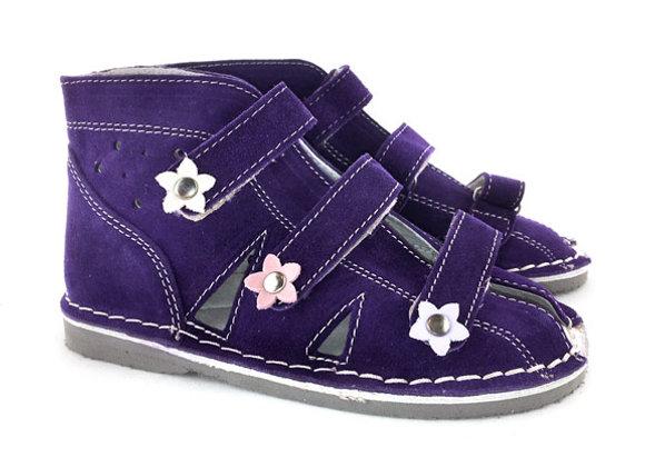 DGS_S134 Purple Suede Sandals