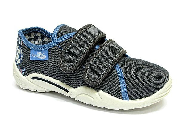 RBB33_374_0147 Gray Canvas Sneakers