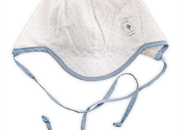 MB_BAMB_SH White Polka Dot Summer Hat