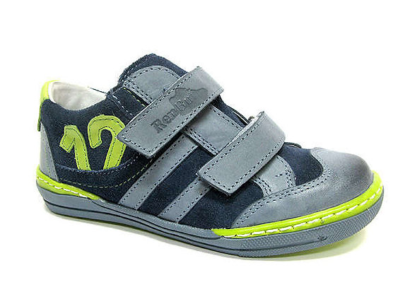 RBB33_4252_0127_S Jeans-Navy Leather Sneakers