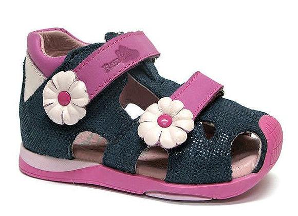 RBG11_1433_0123_CS Navy Shimmery Leather Sandals