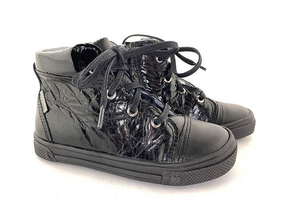 MG306_262_263_HT Black Leather High Tops