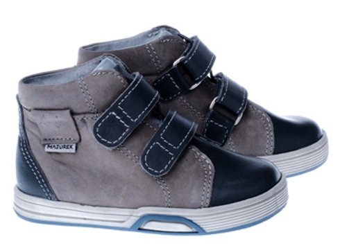 MB1339_GRAY_HT Navy-Gray Leather High Tops