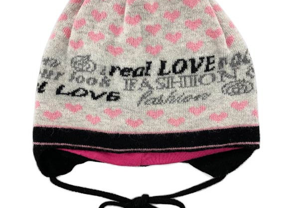 JG_17197P_FWH Gray with Pink Hearts Fall/Winter Hat