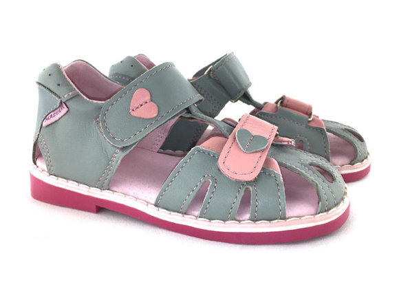 MG280G_CS Gray Leather Sandals