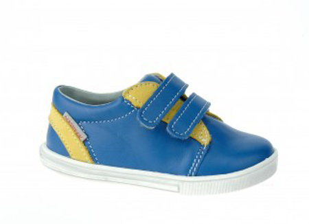 MB_305_BLUE_Y Leather Sneakers