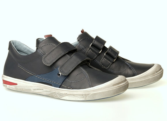 MB1269G_S Dark Gray Leather Sneakers