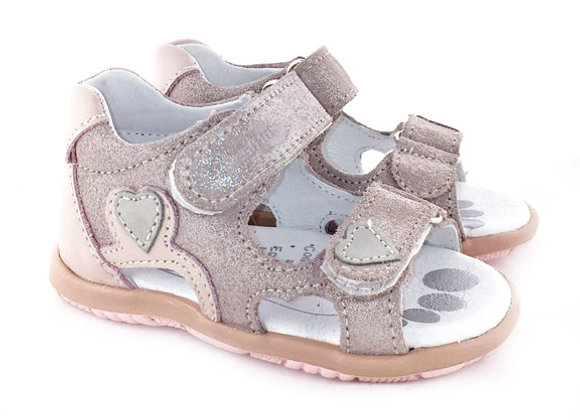 RBG11_1448_0946_OS Sparkly Powder Pink Leather Sandals