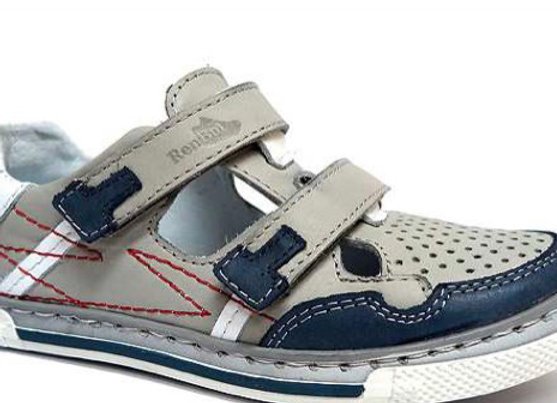 RBB23_3276G_CS Gray Leather Sandals