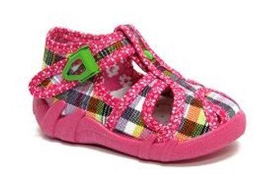 RBG13_128_L_0389CT Checkered Canvas Sandals