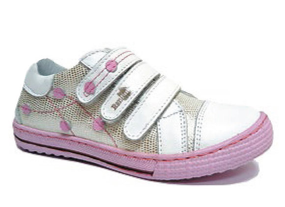 RBG33-4324_S White-Silver Leather Sneakers