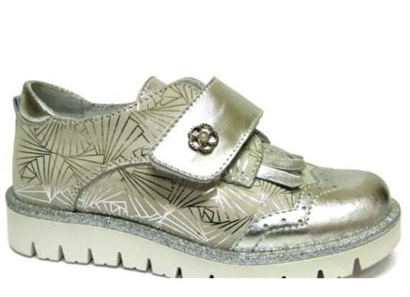 RBG23_3327_0950_S Silver Leather Shoes