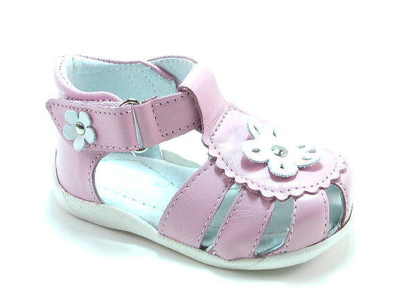 KG3139P_CS Powder Pink Leather Sandals