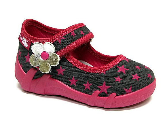 RBG13_139_0686 Magenta Stars Canvas Shoes