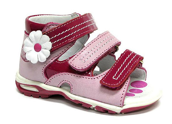 RBG11_1409_OS Pink Leather Sandals
