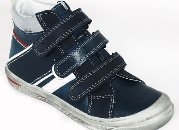 GB107_42_HT Navy Leather High Tops