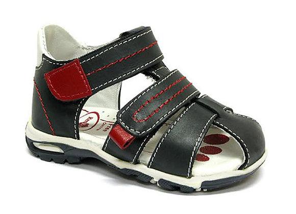RBB11_1449_CS Navy Leather Sandals