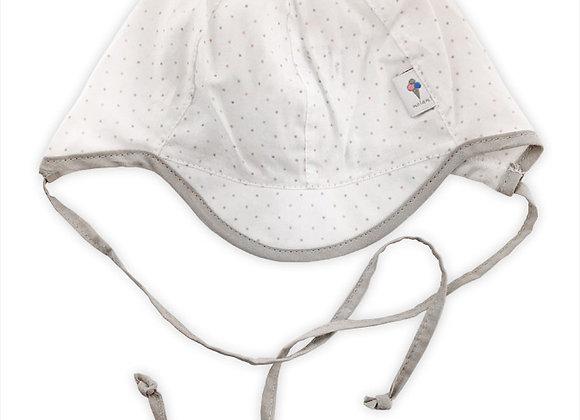 MB_BAM_SH White Polka Dot Summer Hat