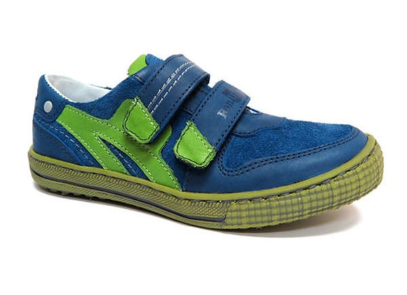 RBB33_4325_0334_S Blue-Green Leather Sneakers