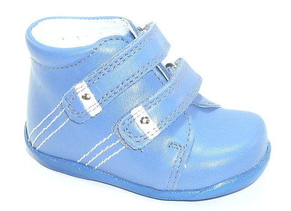 KB1336_BLUE_HT Blue Leather High Tops