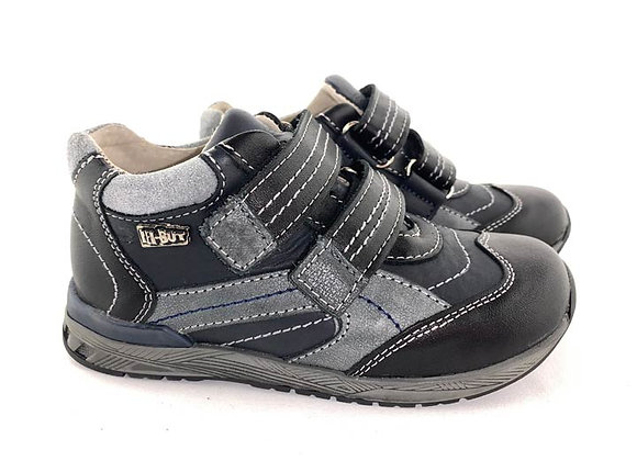 RBB23_3267B_S Black Leather Sneakers