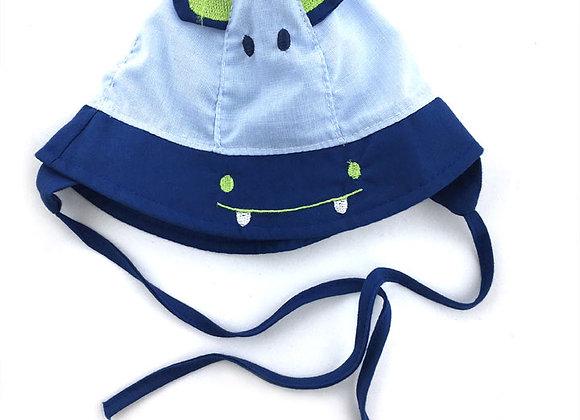 YB_111B_SH Blue-Navy Hippo Summer Hat