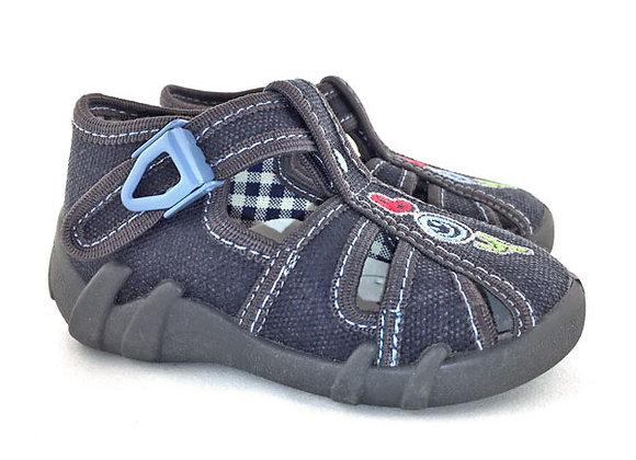 RBB13_106G_CT Gray Boy Canvas Sandals
