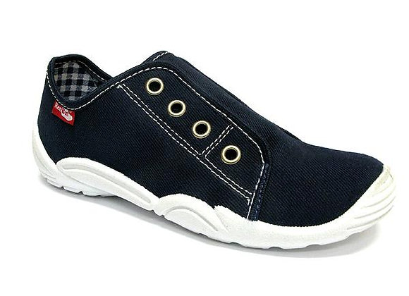 RBB33_379_0112 Dark Navy Canvas Shoes