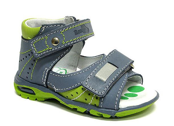 RBB11_1407J_OS Jeans Green Leather Sandals
