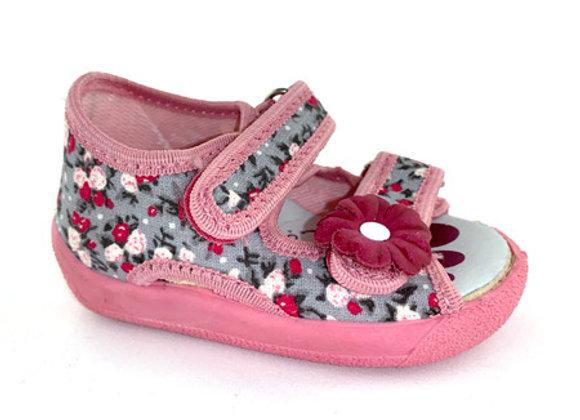 RBG13-112F_OT Floral Canvas Sandals