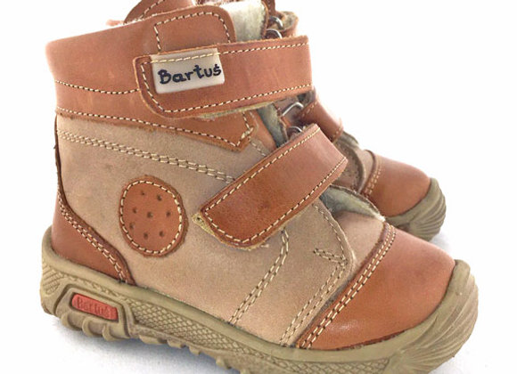 BB310_WB Beige Leather Boots
