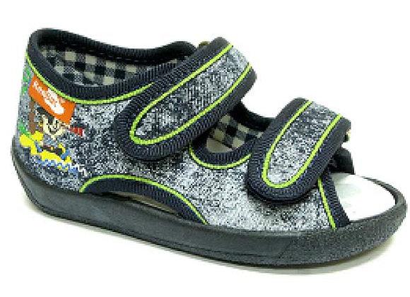 RBB13_112_LS_0687OT Distressed Canvas Sandals