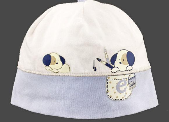 JB16090_SFH White/Light Blue Spring Hat
