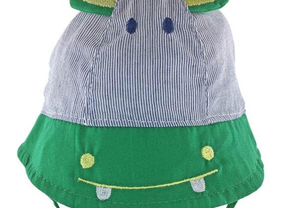 YB_111_SH Green/Navy Hippo Summer Hat